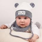 Детский демисезонный комплект (шапка + манишка) для мальчика