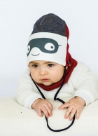 Детский демисезонный комплект (шапочка+хомут) для мальчика